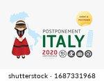 2020 italy postponement ... | Shutterstock .eps vector #1687331968