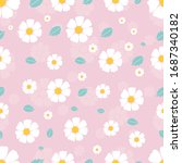seamless floral pattern in... | Shutterstock .eps vector #1687340182