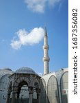 Small photo of ISTANBUL,TURKET-MARCH 20,2020:Exterior architecture and design of The Sultan Ahmet Camii (Blue Mosque), was completed in 1617 just prior to the untimely death of its then 27-year old eponymous