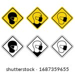 warning banners only in medical ... | Shutterstock .eps vector #1687359655