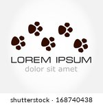 Stock vector paw print vector illustration 168740438