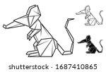 vector monochrome image of... | Shutterstock .eps vector #1687410865