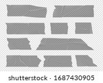transparent tape. adhesive... | Shutterstock .eps vector #1687430905