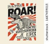 dinosaur typography  tee shirt... | Shutterstock .eps vector #1687459015