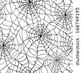 spiderweb seamless cobweb... | Shutterstock .eps vector #168749195
