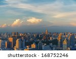 bangkok downtown at sunset in... | Shutterstock . vector #168752246