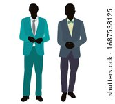 silhouette in colored clothes... | Shutterstock .eps vector #1687538125
