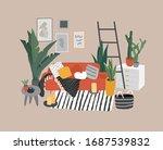 scandinavian or nordic style... | Shutterstock .eps vector #1687539832