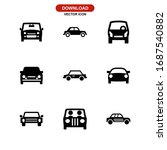 car icon or logo isolated sign... | Shutterstock .eps vector #1687540882