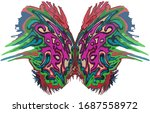 abstract beautiful colored... | Shutterstock . vector #1687558972