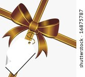 gold ornamental bow with white... | Shutterstock .eps vector #16875787