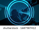 abstract background of... | Shutterstock .eps vector #1687587412
