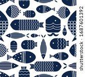 cute fish. kids background.... | Shutterstock .eps vector #1687601392