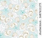 Seashells Pattern Background ...