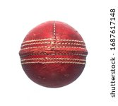 Old Red Leather Cricket Ball...