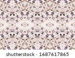 dusty tie dye batik. ombre... | Shutterstock . vector #1687617865