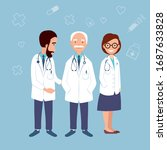 old and young doctors design... | Shutterstock .eps vector #1687633828