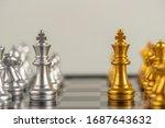 chess. strategy ideas planning...   Shutterstock . vector #1687643632