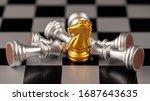 chess. strategy ideas planning...   Shutterstock . vector #1687643635