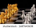 chess. strategy ideas planning...   Shutterstock . vector #1687643638