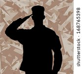 Saluting Soldier's Silhouette...