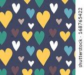 grungy seamless vector heart... | Shutterstock .eps vector #168765422