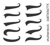 set swirling tails typography... | Shutterstock .eps vector #1687656775