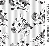 seamless floral pattern with... | Shutterstock .eps vector #1687657252