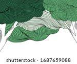 landscape line art ink drawing  ... | Shutterstock .eps vector #1687659088