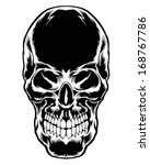 dark skull vector element | Shutterstock .eps vector #168767786