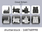 Landmarks Of Great Britain. Set ...