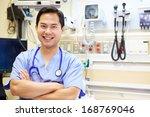 Portrait Of Male Doctor In...