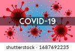 corona quarantine sign caution...   Shutterstock .eps vector #1687692235