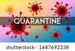corona quarantine sign caution... | Shutterstock .eps vector #1687692238