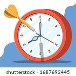 target with dart arrow and... | Shutterstock .eps vector #1687692445