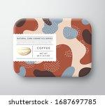 coffee bath cosmetics package... | Shutterstock .eps vector #1687697785