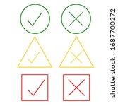 thin line check mark icons....