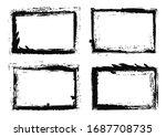 grunge vector frames. grunge... | Shutterstock .eps vector #1687708735