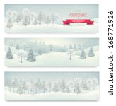 Three Holiday Landscape Banner...