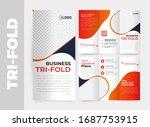 business tri fold brochure...   Shutterstock .eps vector #1687753915