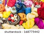 variety of silks   Shutterstock . vector #168775442