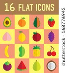 flat icon fruit | Shutterstock .eps vector #168776942