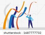 businessman standing near...   Shutterstock .eps vector #1687777732