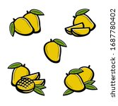mango set. collection icon... | Shutterstock .eps vector #1687780402