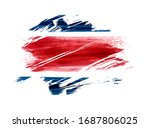 abstract watercolor paint flag... | Shutterstock .eps vector #1687806025
