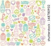 love pattern | Shutterstock .eps vector #168780932