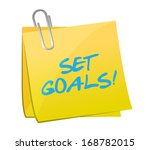 set goals post illustration... | Shutterstock . vector #168782015