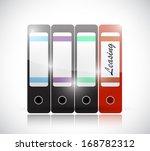 leasing folder illustration... | Shutterstock . vector #168782312