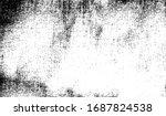 scratched frame. grunge urban... | Shutterstock .eps vector #1687824538