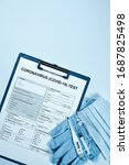 Coronavirus Test Form. Getting...